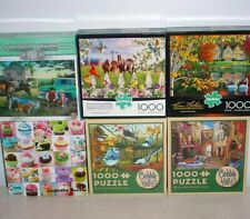 Cobble Hill Buffalo Remarks Lot of 6 Puzzles 1000 pc COMPLETE Birds Horses Swans