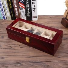 Présentoir à montre Boîte de rangement en Bois pour 6 montres Bijoux Coffret