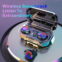 Kopfhörer TWS Bluetooth 5.0 Sport Headset In-Ear LED Anzeige Ohrhörer Ladebox DE