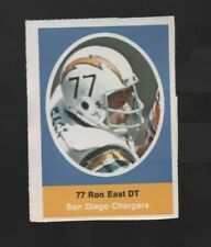 1972 SUNOCO STAMP RON EAST SAN DIEGO CHARGERS
