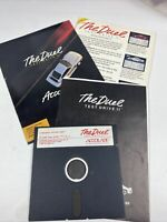 The Duel Test Drive 2 Accolade W/ Manual And Front And Back Of Box Commodore 64