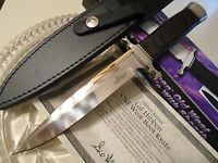 """Gil Hibben Old West Boot Knife Bowie Dagger GH5047 11"""" OA Leather Clip Sheath"""
