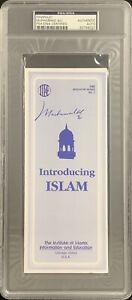 Muhammad Ali Signed Pamphlet Introducing Islam Blue GOAT Autograph HOF PSA/DNA