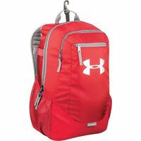 Under Armour Hustle II Kids Baseball Softball Bat Backpack Equipment Bag, Red