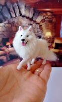 ESKIMO DOG Dollhouse realistic OOAK miniature 1:12 handsculp.handmade