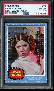 2020 Topps Star Wars Living Set #77 Princess Leia PSA 10 Gem Mint SP A New Hope