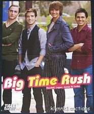 Big Time Rush 5 POSTERS Magazine Centerfolds Lot 1675A Justin Bieber on back