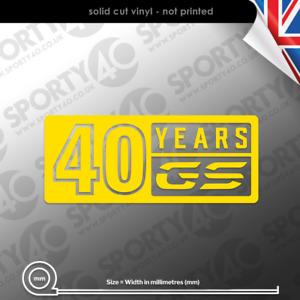 40 Years Anniversary GS Sticker Vinyl Decal R 1250 850 750 GS GSA 7512-1220