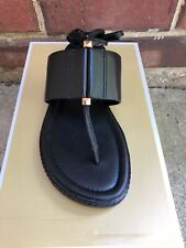 NIB $110 MICHAEL KORS Marlon Black Leather Lace-Up Sandal 8.5M