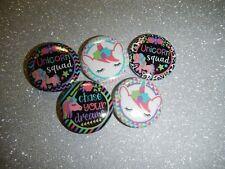 "Unicorn Rainbow Kawaii 1"" Craft Circles Flat-back Button Embellishments Decoden"