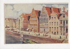 Gand Quai Aux Herbes Belgium 1921 Postcard 907a