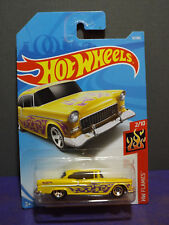2018 Hot Wheels '55 CHEVY- HW FLAMES Series 2/10, Long card.