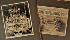 1890s Baker Deep Sea Diving System - Pair of Mounted Cabinet Photos of Drawings