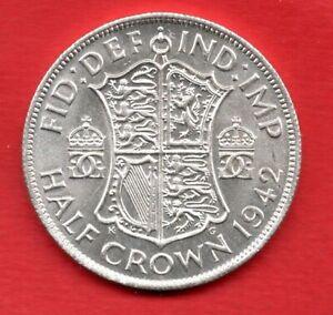 1942 KING GEORGE VI SILVER HALFCROWN COIN. HALF CROWN. 2/6-
