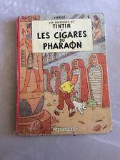 Très Rare Tintin Les Cigares Du Pharaon (B11)