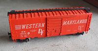 Vintage HO Scale AHM Western Maryland WM 36041 Box Car