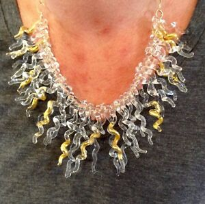GORGEOUS, PERFECT RARE HAND-BLOWN GLASS, DIPPED IN GOLD NECKLACE. MUST SEE!!