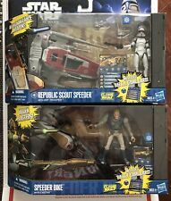 Hasbro Star Wars Clone Wars Republic Scout Speeder ARF Trooper & Speeder Bike
