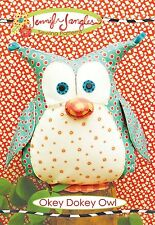 OKEY DOKEY OWL SEWING PATTERN, 12 Inches Tall From Jennifer Jangles NEW
