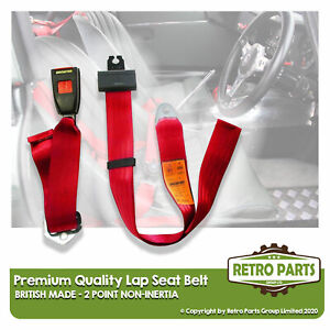 Adjustable 2 Point Lap Seat Belt for Chrysler Le Baron. Safety Strap In Red