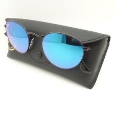 782994646f1 Ray Ban RB 3447 002 4O 50 Shiny Black Blue Gradient Mirror New Authentic