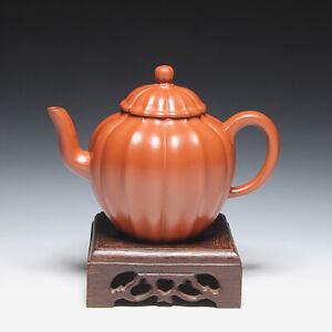 "OldZiSha-Fine China Yixing ZiSha 190cc Old Pure ZhuNi Small ""Crest Line"" Teapot"