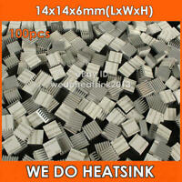 100pcs 14*14*6mm Aluminum Extrusion Heatsink Cooler With Thermal Adhesive Tape