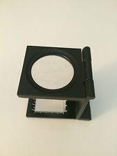 6x Magnifying Lens Glass Heavy Duty Metal Base wCASE Pocket folding Magnifer New