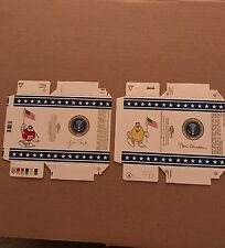 2 Old Unused M&M Candy Boxes  President Bill Clinton & George Bush Air Force One