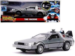 1:24 Back to the Future 2 w/Working Lights -- Delorean Time Machine -- JADA