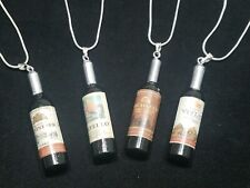 Wine Necklace Bottle Pendant on Sterling Silver Chain