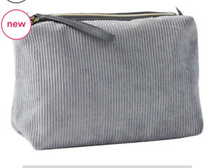 Ulta Pink Beauty Makeup Bag Cosmetics Travel Bag Courderoy Gray Grey New