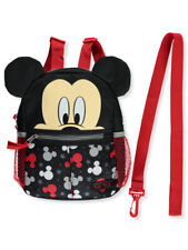 """Disney Baby Mickey Mouse Logo Stars 10"""" Harness Adjustable Backpack New in box"""