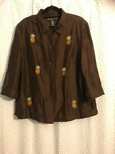 Women's clothing, women's top, size 2X, SilkLand Woman, made in China.