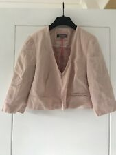 BNWT M&S Limited Collection Pale Pink Cropped Wedding Jacket Sz 12