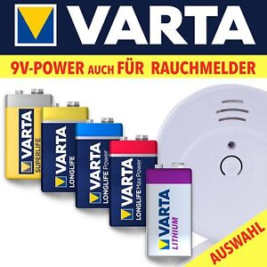 VARTA 9V-Rauchmelderbatterien 6LR61 9V-Block Superlife Longlife HighEnergy MaxTe
