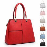 Ladies Multi Compartment Handbag Retro Style Shoulder Bag Day Work Bag MA36353
