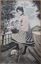 Multiple Baby 1910 French Fantasy Postcard: La Marchande de Bebes