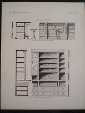 Victorian Design Architecture Dry Goods Store Interior Fittings Plan 1885 #292