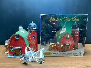 Barn Silo Lighted House Christmas Heartland Valley Village Deluxe Porcelain 1999