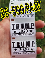 TRUMP 2020 KEEP AMERICA GREAT Stickers 25-500 Pack politic decal donald election