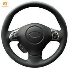 Black Leather Steering Wheel Cover for Subaru Forester Impreza Legacy Exiga 2