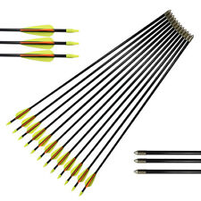 Fiberglass Arrows Youth Kids Practise Recurve Compound Bows Shooting 12pcs 24-30