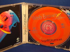 SEGA Dreamcast  WEB BROWSER  video game COMPLETE manual EXCELLENT internet www