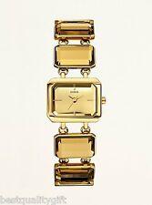 NEW GUESS GOLD TONE ,CRYSTAL MIRROR JEWEL DIAL BRACELET WATCH-W14549L1