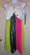 Disney Hannah Montana Girls Dress & Vest Set Multi XL/16 NWT