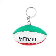 PORTACHIAVI pelle porta chiavi auto keychain pallone rugby bandiera ITALIA