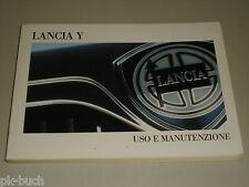 Betriebsanleitung Handbuch Uso e Manutenzione Lancia Ypsilon Y, Stand 10/1998