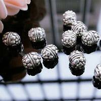 20 Pcs Antique Tibetan Silver Charms Loose Spacer Beads DIY Jewelry Findings Kit