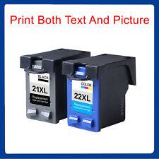 2 Ink Cartridge Unbrand Fits hp 21XL Black & 22XL Colour Deskjet F2280 Printer